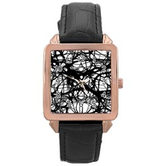Neurons Brain Cells Brain Structure Rose Gold Leather Watch