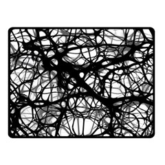 Neurons Brain Cells Brain Structure Double Sided Fleece Blanket (Small)