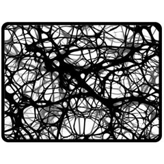 Neurons Brain Cells Brain Structure Double Sided Fleece Blanket (Large)