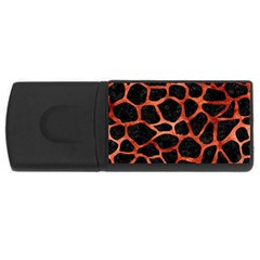 Skin1 Black Marble & Copper Paint Rectangular Usb Flash Drive by trendistuff