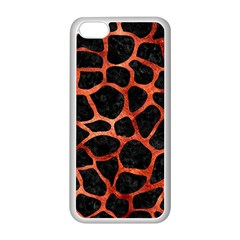 Skin1 Black Marble & Copper Paint Apple Iphone 5c Seamless Case (white) by trendistuff