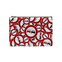 Overtaking Traffic Sign Cosmetic Bag (medium)
