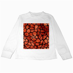 Skin1 Black Marble & Copper Paint (r) Kids Long Sleeve T Shirts