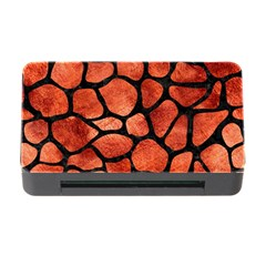 Skin1 Black Marble & Copper Paint (r) Memory Card Reader With Cf by trendistuff