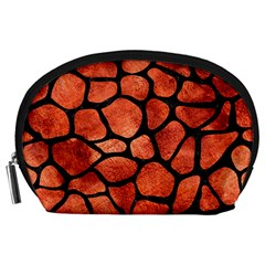Skin1 Black Marble & Copper Paint (r) Accessory Pouches (large)  by trendistuff