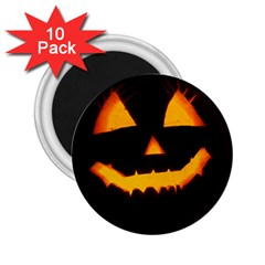 Pumpkin Helloween Face Autumn 2 25  Magnets (10 Pack)