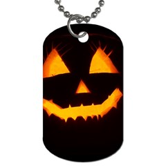 Pumpkin Helloween Face Autumn Dog Tag (one Side) by Celenk