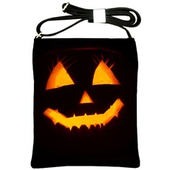 Pumpkin Helloween Face Autumn Shoulder Sling Bags by Celenk