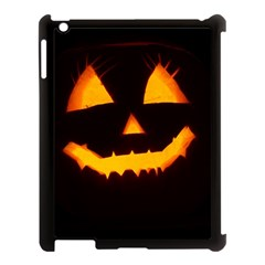 Pumpkin Helloween Face Autumn Apple Ipad 3/4 Case (black) by Celenk