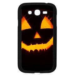Pumpkin Helloween Face Autumn Samsung Galaxy Grand Duos I9082 Case (black) by Celenk