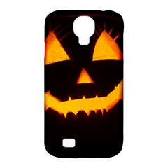Pumpkin Helloween Face Autumn Samsung Galaxy S4 Classic Hardshell Case (pc+silicone) by Celenk