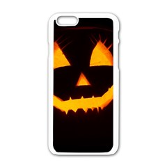 Pumpkin Helloween Face Autumn Apple Iphone 6/6s White Enamel Case by Celenk