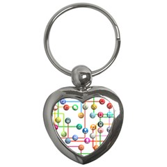 Icon Media Social Network Key Chains (heart)  by Celenk