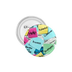 Stickies Post It List Business 1 75  Buttons by Celenk