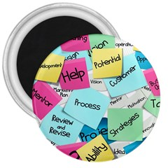 Stickies Post It List Business 3  Magnets by Celenk