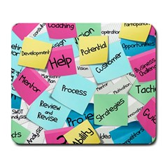 Stickies Post It List Business Large Mousepads by Celenk