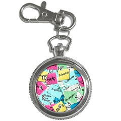 Stickies Post It List Business Key Chain Watches by Celenk