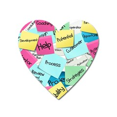 Stickies Post It List Business Heart Magnet by Celenk
