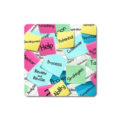 Stickies Post It List Business Square Magnet