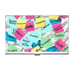 Stickies Post It List Business Business Card Holders by Celenk