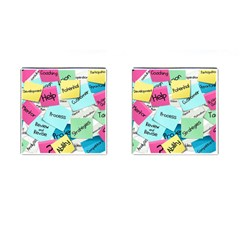 Stickies Post It List Business Cufflinks (square) by Celenk