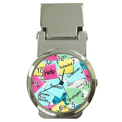 Stickies Post It List Business Money Clip Watches by Celenk