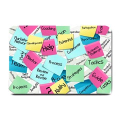Stickies Post It List Business Small Doormat  by Celenk