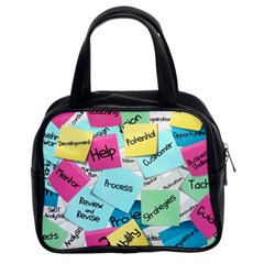 Stickies Post It List Business Classic Handbags (2 Sides) by Celenk