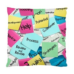 Stickies Post It List Business Standard Cushion Case (one Side) by Celenk