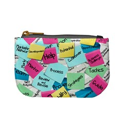 Stickies Post It List Business Mini Coin Purses by Celenk