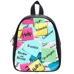 Stickies Post It List Business School Bag (small) by Celenk