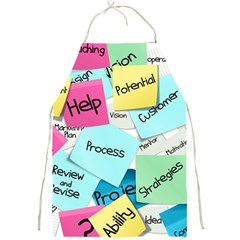 Stickies Post It List Business Full Print Aprons by Celenk