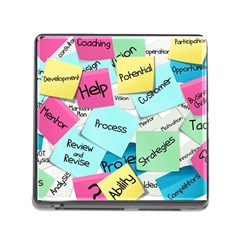 Stickies Post It List Business Memory Card Reader (square) by Celenk