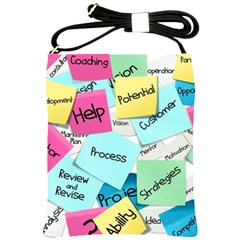 Stickies Post It List Business Shoulder Sling Bags by Celenk