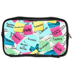 Stickies Post It List Business Toiletries Bags 2 Side by Celenk