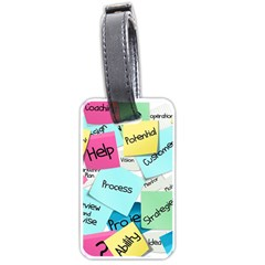 Stickies Post It List Business Luggage Tags (one Side)  by Celenk