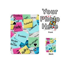 Stickies Post It List Business Playing Cards 54 (mini)  by Celenk