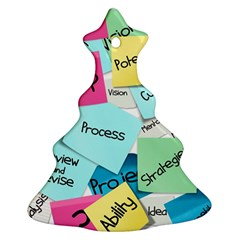 Stickies Post It List Business Christmas Tree Ornament (two Sides) by Celenk