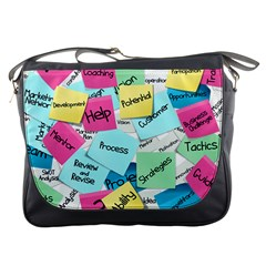 Stickies Post It List Business Messenger Bags by Celenk