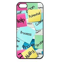 Stickies Post It List Business Apple Iphone 5 Seamless Case (black) by Celenk