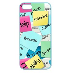 Stickies Post It List Business Apple Seamless Iphone 5 Case (color) by Celenk
