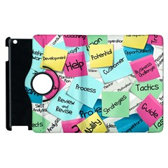 Stickies Post It List Business Apple Ipad 2 Flip 360 Case by Celenk