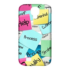 Stickies Post It List Business Samsung Galaxy S4 Classic Hardshell Case (pc+silicone) by Celenk