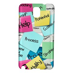 Stickies Post It List Business Samsung Galaxy Note 3 N9005 Hardshell Case by Celenk