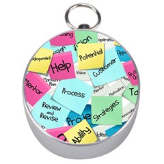 Stickies Post It List Business Silver Compasses by Celenk