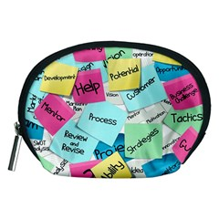 Stickies Post It List Business Accessory Pouches (medium)  by Celenk