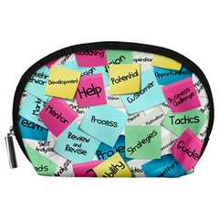 Stickies Post It List Business Accessory Pouches (large)  by Celenk