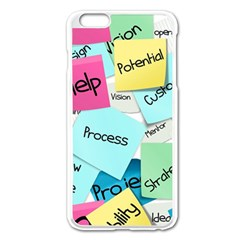 Stickies Post It List Business Apple Iphone 6 Plus/6s Plus Enamel White Case by Celenk