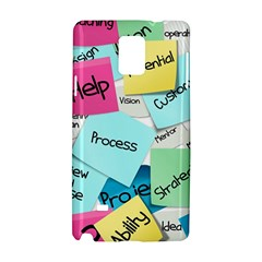 Stickies Post It List Business Samsung Galaxy Note 4 Hardshell Case by Celenk