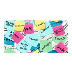 Stickies Post It List Business Satin Wrap by Celenk
